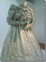 Inside the Pompidou - a macabre wedding dress