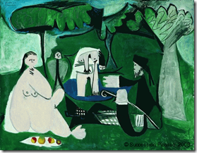 Dejeuner Sur L'Herbe after Manet - Picasso